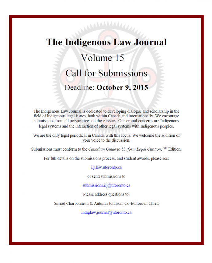 ILJ Call for Submissions - October 9, 2015